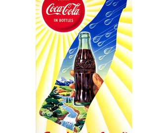 Coca-Cola in Bottles Good Taste Wall Decal # 158524