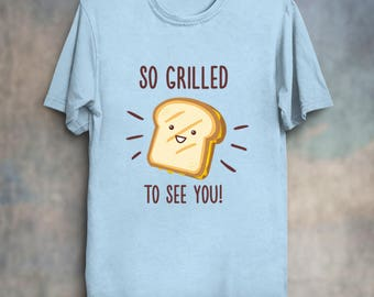 Cheesy Greetings - Funny Food Puns Shirt Kawaii Cute Grilled Cheese Sandwich T-Shirt