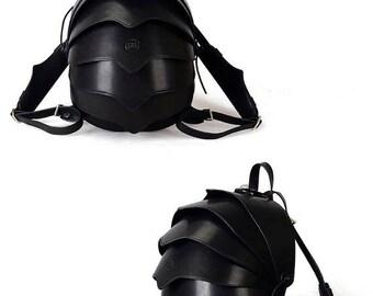 Small  Black Backpack, Black Crossbody Bag, Leather Backpack Women, Crossbody Bags for Women, Shoulder Bag Women, Beetle Bag, Backpack Purs