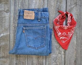 Vintage 70's Levi's Orange Tab Jeans - 20516 0914 Boot Cut - W32 L32
