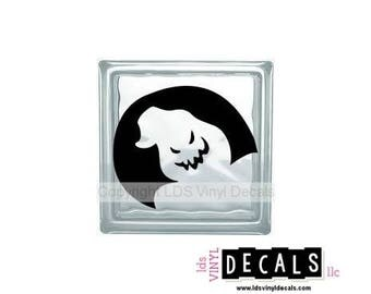 Boogeyman Face - Halloween Vinyl Lettering for Glass Blocks - Craft Decals