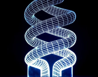 3D illusion Twist Acrylic Leds Sign Laser Engraved - USB Desk Model - Multiple Colors - Remote Control - 6 inches wide fast shipping 01