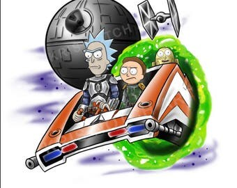 8.5X11 StarTours Rick & Morty Poster Print