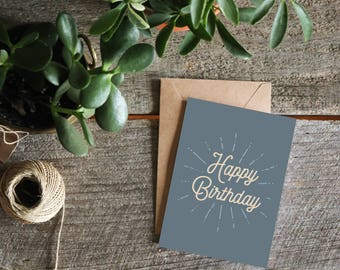 Happy Birthday Card for Her, Birthday Card Friend, Birthday Card Him, Husband Birthday Card, Wife Birthday Card, Birthday Cards for Mom