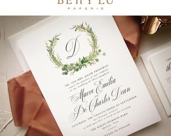 Eucalyptus Wedding Invitation Suite | Spring Greenery Wedding