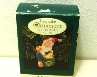 Hallmark Keepsake Ornament-Collector's Club-Rudolph's Helper-Elf-Miniature-New