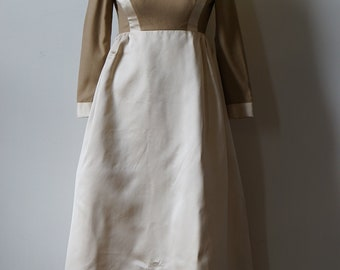 Geoffrey Beene 1960s Beige and White Gown- AS IS