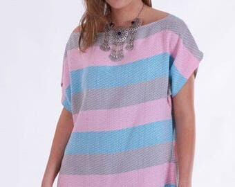 Boheme Beach Dress, cover-up, poolside, hand loomed, peshtemal dress, quick drying, thin, light-weight