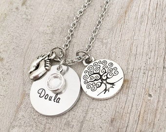Doula Jewelry - Doula Thank You Gift - Doula Necklace Gift -  Birth Doula Jewelry - Doula Appreciation Necklace - Doula Certification Gift