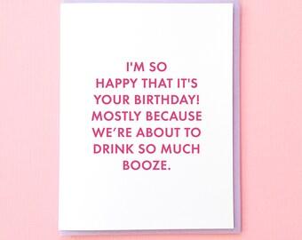 Birthday Card. Best Friend Birthday Card. Birthday Card for Husband. Birthday Card for Wife. Funny Friend Birthday Card. Alcohol Card