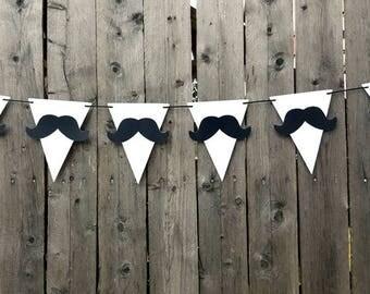 Mustache Garland, Mustache Banner, Little Man Garland, Little Man Banner, Lil Man Garland, Lil Man Banner
