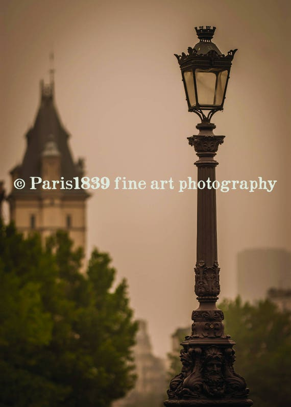 Paris Bedroom Decor, Printable Paris Art, Fine Art Photography, Beautiful Paris, Pont Neuf Lamppost, Paris Wall Art Decor, Digital Download