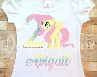 Fluttershy Shirt, My Little Pony Shirt, MLP Birthday, MLP Shirt, Personalized Shirt, My Little Pony, Personalized Birthday Shirt