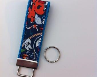 Custom key fob in Sea Punk