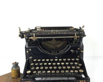 Antique 1910 Typewriter Underwood Typewriter Vintage Industrial Office Typewriter Antique Typewriter Underwood