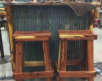 Cedar Bar Stools