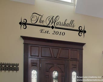 Family Established Decal #8 Wall Decal