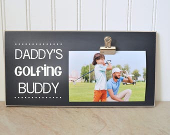 Gift For Golfer {Daddy's GOLFING Buddy} Picture Frame, Father's Day Gift For Dad, Sports Photo Frame, Personalized Frame, Custom Golf Frame