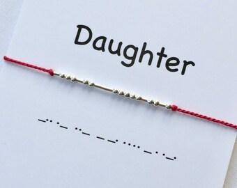 Daughter Morse Code Bracelet, Morse Code Jewellery,