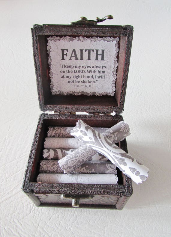Get Well Gift, Faith Bible Box, Cancer Gift, Breast Cancer Gift, Inspirational Bible Verses in Box, Cancer Encouragement, Bible Verses