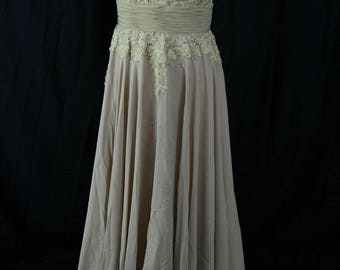 Mother of the bride lace, chiffon evening gown size 12 plus size