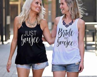 Bachelorette Party Shirts, Bride and Boujee, Just Boujee, Bad and Boozy, Bad and Boujee, Bride and Boujee, Kinda Bad,
