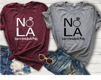 Bachelorette Party Shirts, Bachelorette Party, Bachelorette Shirt, Nola Squad, Nola Bride, I said New Orleans