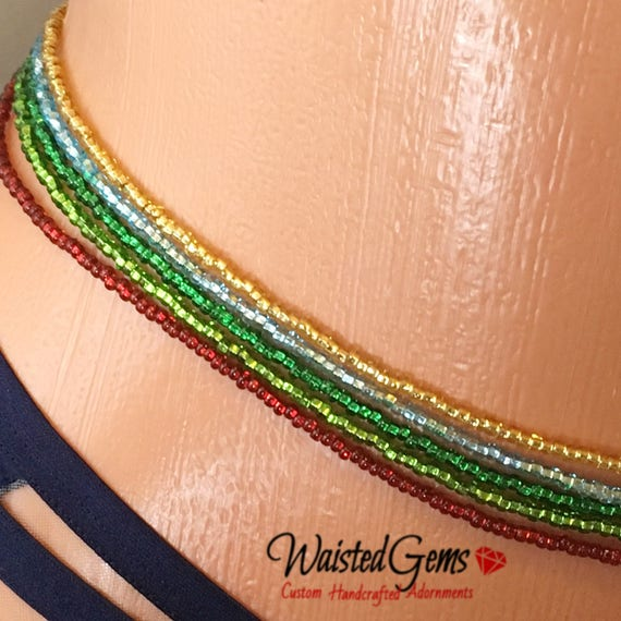 Color Choice Simple Strand Waist Beads, Body Beads, belly chain, african waist beads, Gifts for her, zmw9991