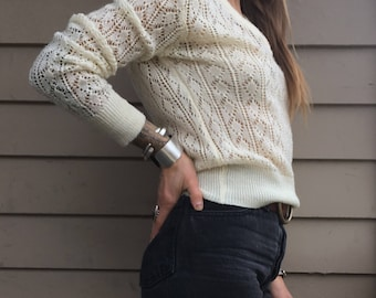 XS/S 1970s sheer sweater