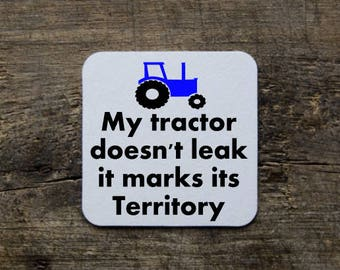 Funny Tractor Coaster/Tractor/Tractor Gift/Farmer Gift/Gift for Farmer/Farmer Tractor/Tractor Coaster/Farmer Coaster