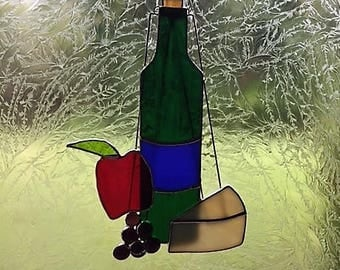 Wine and Cheese in Stained Glass