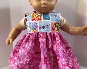 "15 inch Bitty Baby Clothes, Super Cute ""SHOPKINS"" Dress, 15 inch AG American Doll Bitty Baby Clothes & Twin Doll, 15 inch Baby Doll Clothes"
