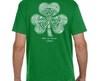 St. Patrick's Day Shirt - Ready to Ship - Celtic Clover Shirt - Men's Unisex Sizes - Green Shirt - Celtic - Shamrock - Irish - St. Patty