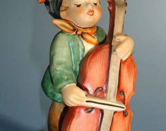 Vintage Hummel Figurine - Sweet Music # 186 Boy with Bass Violin