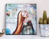 Be Brave - Print on Wood - Ready to Hang Wall Art - Inspirational Her - Empowerment Women - Mixed Media Art - Inspirational Graduation Gifts