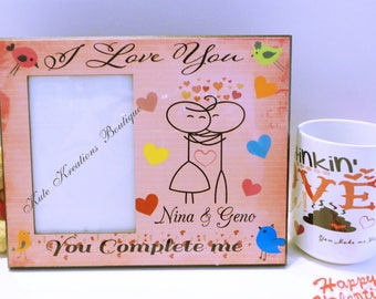Valentines Picture Frame/Love Picture Frame/Valentines Day/Our 1st Valentines