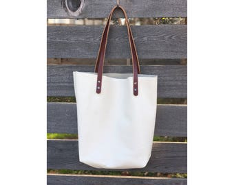 Limited Edition LARGE TOTE White • Leather Everyday Bag