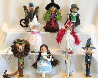 Wizard of Oz Ornaments - 9 Piece Set