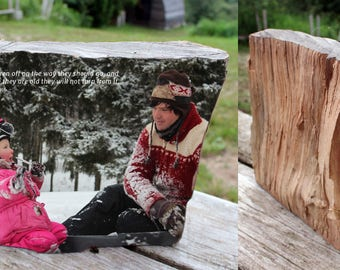 Wood Photo Art - Unique Customized Sculpture - Medium