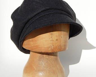 Wool baker boy cap, Black baker boy cap, Wool captains cap, Black captains cap, Womens captains cap, Black newsboy cap, Peaky blinders cap