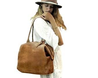 Leather tote bag, Leather tote, Brown Leather Bag, laptop bag, women laptop leather bag, laptop bag women, handmade with love!!
