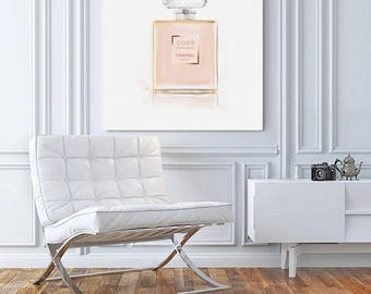 Chanel Print, Chanel Poster, Square Wall Art, Fashion Wall Art, Chanel Canvas Art, Teen Wall Art, Chanel Decor, Gifts for Her, Pink, Square