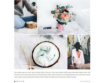 Parallel Blogger Template - Responsive Blogger Template - Feminine Blogger Template - Minimalist Template - Blogger Theme