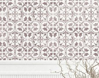 ZAMORA Tile Stencil - Mediterranean Spanish Moroccan Wall Furniture Floor Craft Stencil - ZAMO01