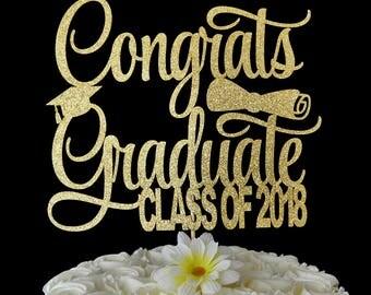Congrats  Graduate Cake Topper