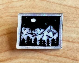Glitter Mountains Pin