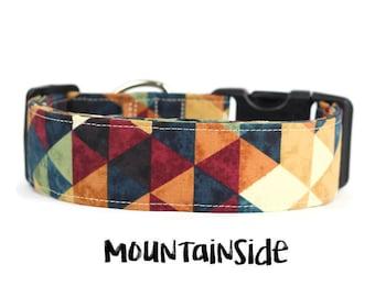 Autumn Dog Collar, Fall Dog Collar, Rustic Dog Collar, Geometric Dog Collar, Wide Dog Collar (Upgrade to Metal Buckle or Martingale)