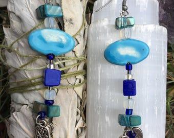 Azul Hamsa Earrings