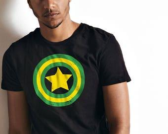 Captain Jamaica // Jamaica // Gift Idea // Jamaica Shirt // Reggae // Super Hero // Fathers Day Gift