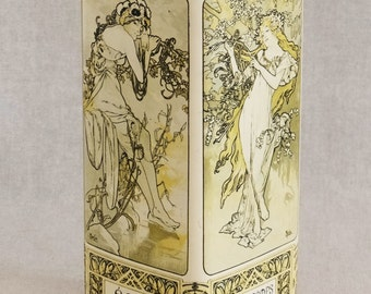 Jugenstil can Mucha-style, the four seasons
